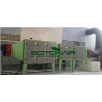 Air cleaning device for foaming PVC product factory