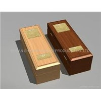 durable woden wine box of one bottle