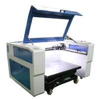 Cheap tombstone, marble, granite engraving machine, co2 laser engraver with lifting trolley