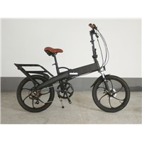 Alloy frame black wheel electric bike
