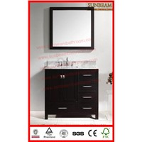 solid wood freestanding  bathroom vanities/bathroom cabinets/bathroom furniture