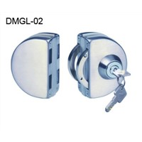 Glass door lock without cut glass