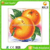 Good Selling Gemstone Mosaic Drawing With Fruit Painting Art On Canvas