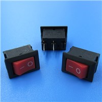 15 x 10mm Red Button Rocker Switches