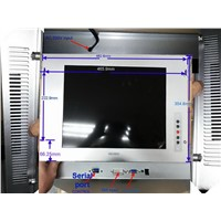 17 Inch 4:3 Touch Screen Monitor for Machine USB or serial port /R232 COM Open Frame Monitor