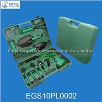 10 pcs garden tool set in case,green color- EGS10PL0002