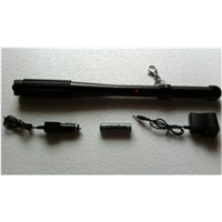 long stun gun with light and spike