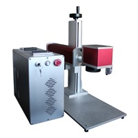 portable 10W 20W 30W fiber laser metal marking machine for logo/serial number/date/photos