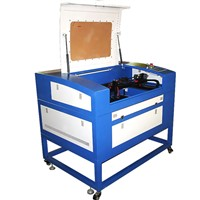 60W wood/plywood/bamboo/rubber/leather/glass Co2 laser engraving cutting machine FL-460 with CE/FDA