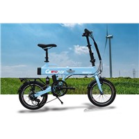 Two battery blue electric bike