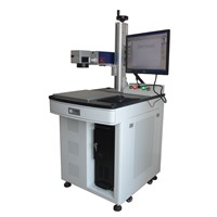 desktop table size 10W 20W 30W metal/plastic fiber laser marking machine with computer