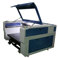 large format granite/tombstone/ceramic/marble 100W Co2 laser engraving machine with lifting trolley