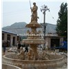 Travetine garden fountain, sculpture  pool fountain, exterior waterfall fountain