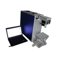 10W 20W 30W portable small metal/plastic/leather fiber laser marking machine for sale