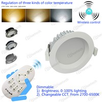 12W CCT changeable and dimmable LED downlight