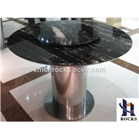 Silver Gradon marble table, black marble table top,marble dining table
