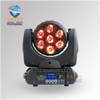 Best Sale 7pcs*10W RGBW 4IN1 LED Moving Head Beam Light With Powercon,DMX IN/OUT For DJ Event Party