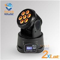 7PCS*12W 4IN1 RGBW MINI LED Moving Head Light,Wash Light,American DJ Light