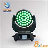 8X LOT New 36*18W 6in1 RGBAW+UV ZOOM LED Moving Head Wash Light With Touch Screen LCD Display