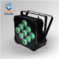 Rasha 9pcs*18W 6in1 RGBAW UV Battery Powered LED Par Light,Built In Wireless LED Par Can For Disco