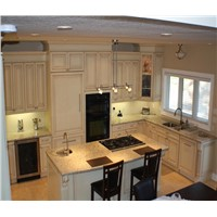 Canadian and American style solid wood kitchen cabinet