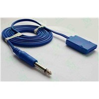 Reusable Cable (Lead wire) for ESU Grounding Pad (MA2000WL-HF) , HIFI Plug,CE & ISO13485 Certificate