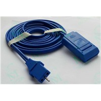 Reusable Cable (Lead wire) for ESU Grounding Pad (MA2000WL-RM) , Rem Plug, CE & ISO13485 Certificate