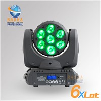 6X LOT Factory Price 7pcs*12W RGBW LED Moving Head Beam Light, Moving Head Light with DMX In&Out