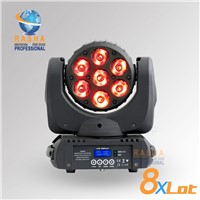 8X LOT High Quality 7*12W 4IN1 RGBW LED Moving Head Beam Light 14DMX Channel For Event Party