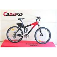 Red black frame electric bike