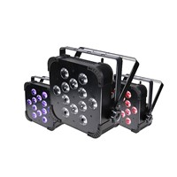 Rasha Factory Price 12pcs*18W 6in1 RGBAW UV Built In Wireless LED Flat Par Light,Stage Light