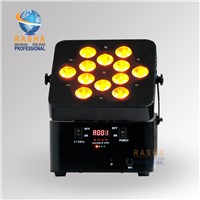12*10W 4in1 RGBW/RGBA Freedom Wireless&Battery Powered LED Flat Par Can Light,DJ Light