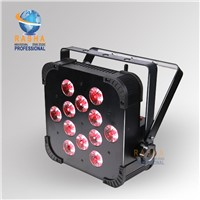 New 12pcs*18W 6in1 RGBAW UV WiFi DMX LED Flat Par Can, UV Color LED Sliam Par Light for Stage Party