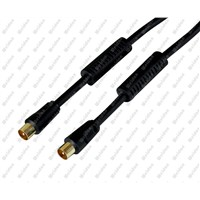 Coaxial Flylead Cable Male to Male W/ Ferrie Beads