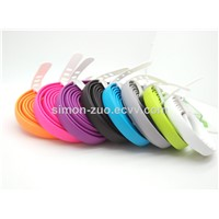 Wholesale Factory Price Multi Colors Magnetic USB 2.0 AM to Micro Noodle Cable