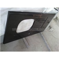 Shanxi Black granite countertop, granite custom kitchen tops