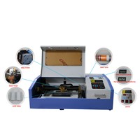 k40 laser engraving machine .mini model, 200*300 mm work size