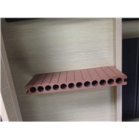 138*23 round hollow grooved WPC flooring Anti-skidding corrosion-resistant decking