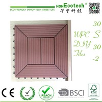 Anti-sliding CE wood timber Exterior landscape interlock wpc diy tiles