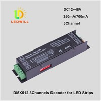RGB DMX512 CC driver 350mA/700mA DMX512 CV Decoder Connector led lighting lamps with lights