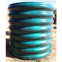 Hot dipped plastic coating steel corrugated pipes