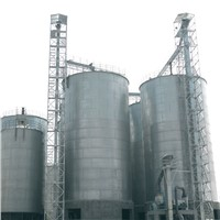 Assembly paddy storage flat bottom grain steel silo supplier