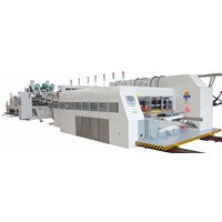 Automatic Flexo Printer Slotter Rotary Die Cutter and In-Line Folder Gluer
