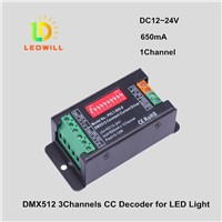 DMX512 Constant Current Driver 650mA 1Channel LED Connector lamps with lights DMX512 Decoder