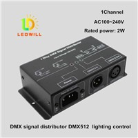DMX signal distributor LED Connector DMX512 Signal Splitter (1 Input and 1 Output) led lighting