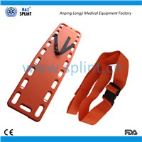 Patient immobilization  reusable first aid backboard straps