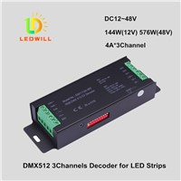 RGB DMX512 CV Decoder Connector 3 Channels Dmx512 decoder drive led lighting lamps with spotlights