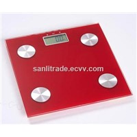 square digital body analysis scale  red color