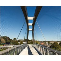 stainless steel suspension bridge railing mesh