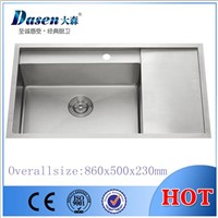 DS8650 single bowl with drain board kitchen sink